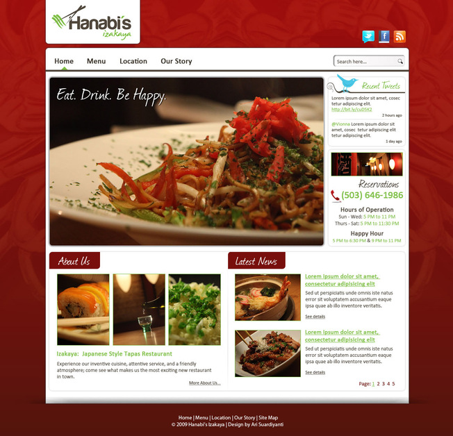 A great web design by Chykalophia Graphic Design, Bali, Indonesia: