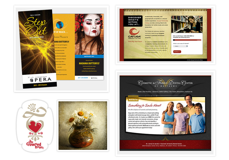 A great web design by Susan Weller Design Studios, Syracuse, NY: