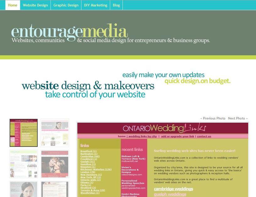 A great web design by Jennifer Goulden, EntourageMedia.ca, Toronto, Canada: