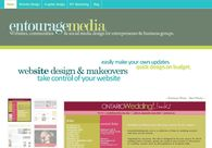A great web design by Jennifer Goulden, EntourageMedia.ca, Toronto, Canada: