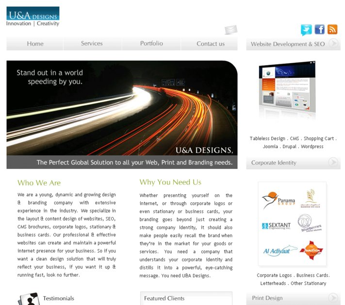 A great web design by U&A Designs, Bangalore, India:
