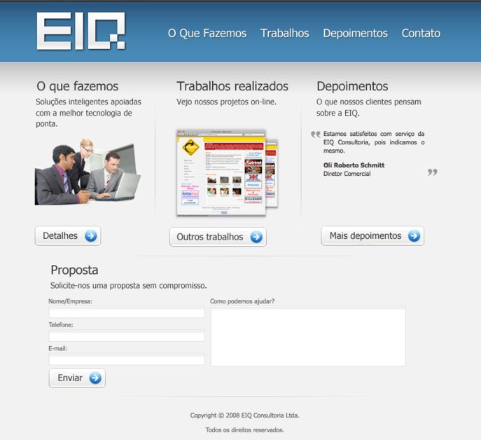 A great web design by EIQ Consultoria, Sao Paulo, Brazil: