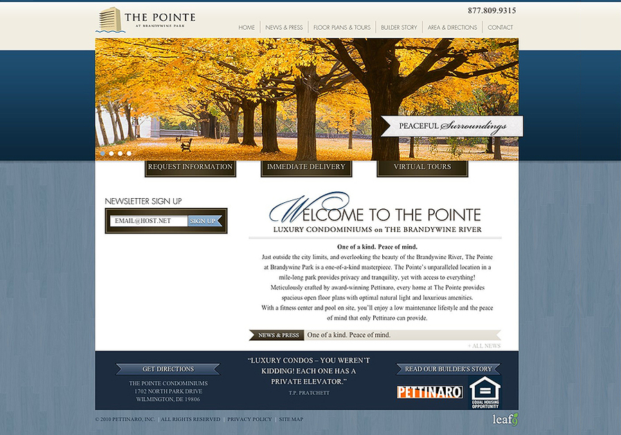 A great web design by LEAF9 Website Design & Marketing, Portland, ME: