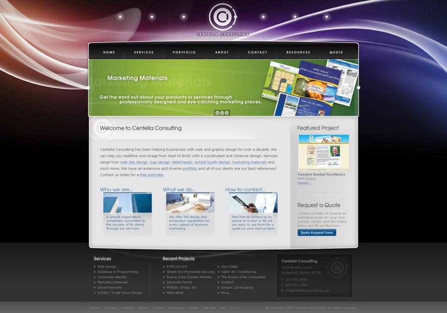 A great web design by Centella Consulting, Orlando, FL: