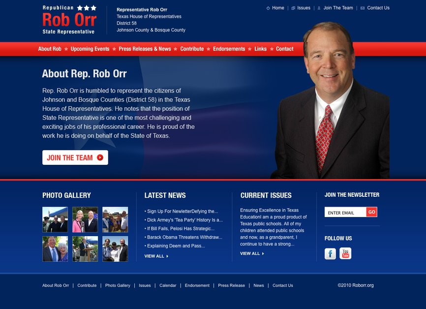 A great web design by Six19 Creative, LLC, Fort Worth, TX: