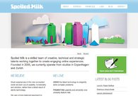 A great web design by Spoiled Milk, Copenhagen, Denmark: