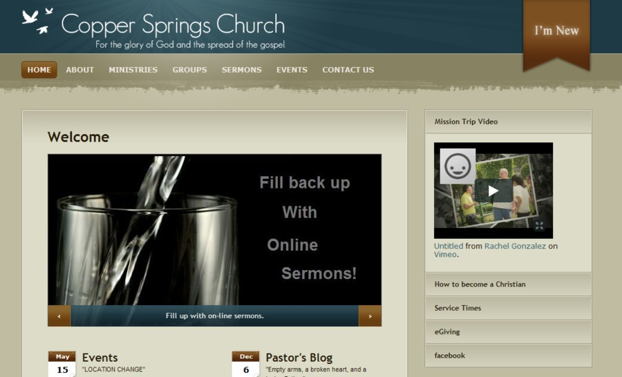 A great web design by ChurchVida, Fresno, CA: