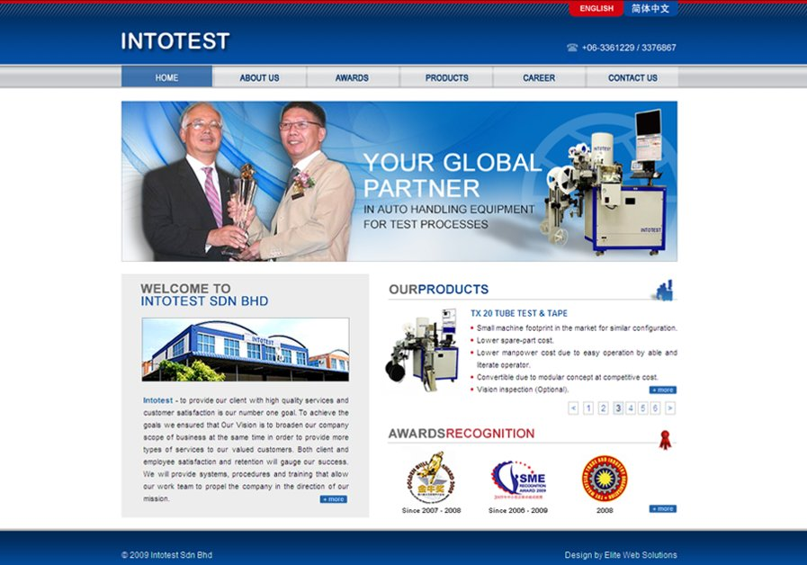 A great web design by Elite Web Solutions, Kuala Lumpur, Malaysia: