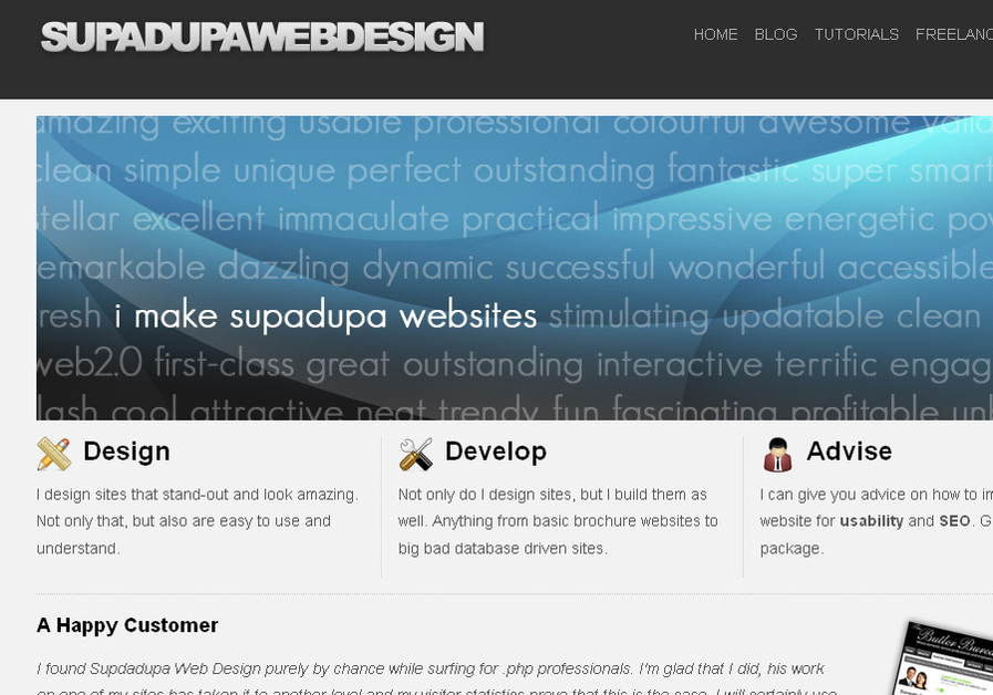 A great web design by Supadupa Web Design, Rotherham, United Kingdom: