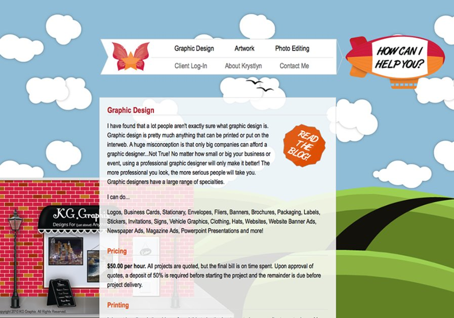 A great web design by KG Graphix, Monterey, CA: