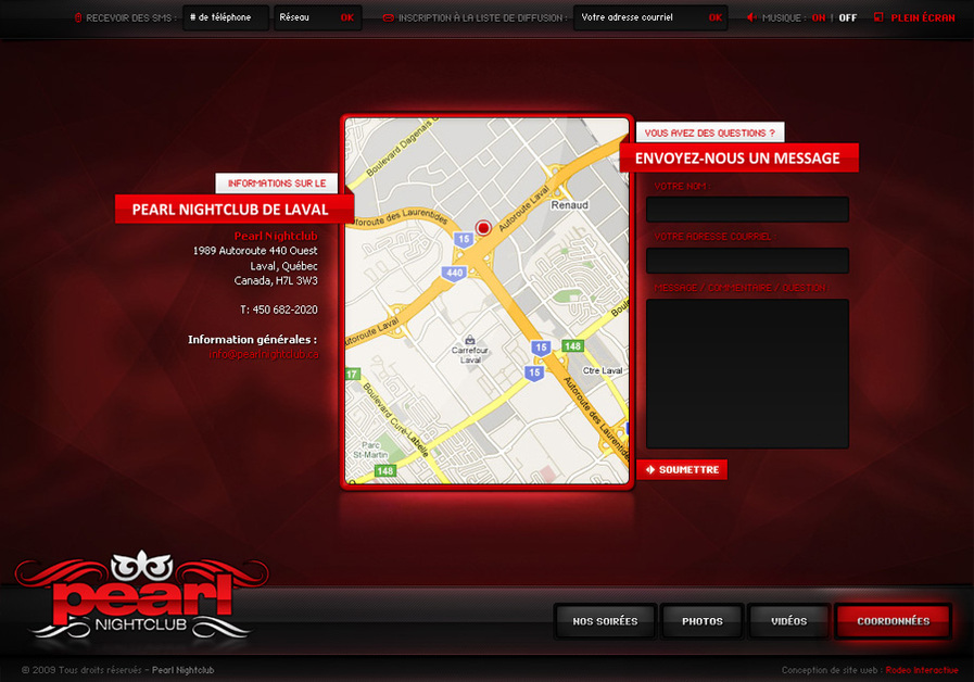 A great web design by Rodeo Interactive, Montreal, Canada: