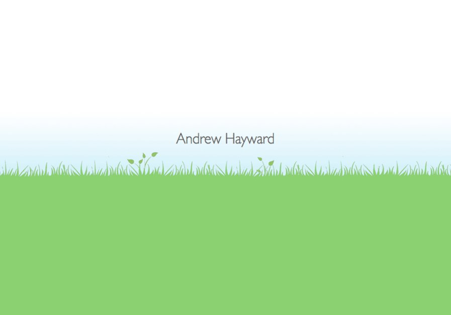 A great web design by Andrew Hayward, London, United Kingdom: