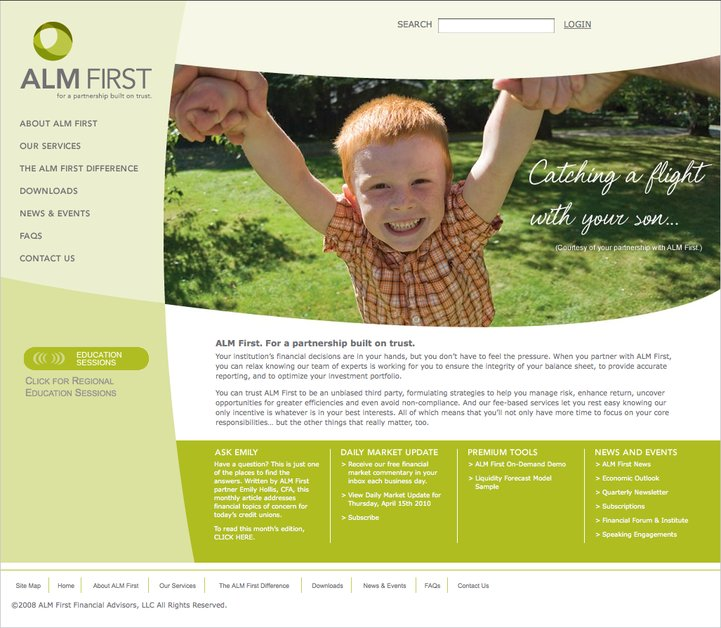 A great web design by OnMessage, Dallas, TX: