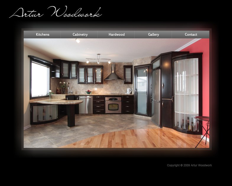A great web design by Alisa Proshunina, Calgary, Canada: