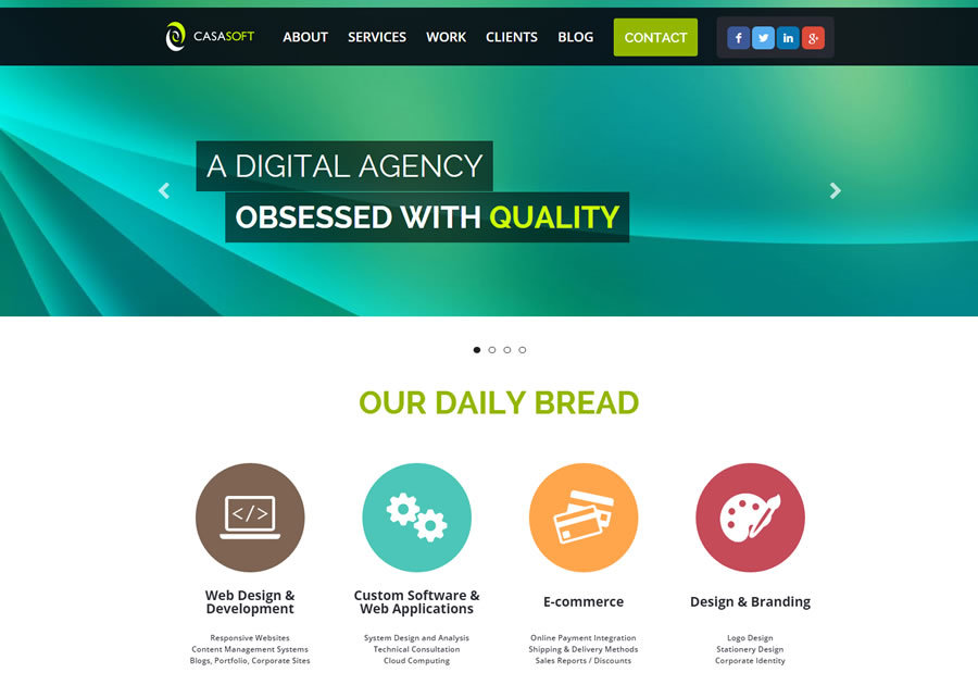 A great web design by CasaSoft Web Design Malta, Hamrun, Malta: Responsive Website, Portfolio , Software , ASP.NET