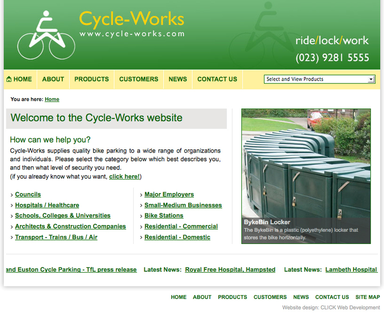 A great web design by CLICK Web Development, Southampton, United Kingdom: