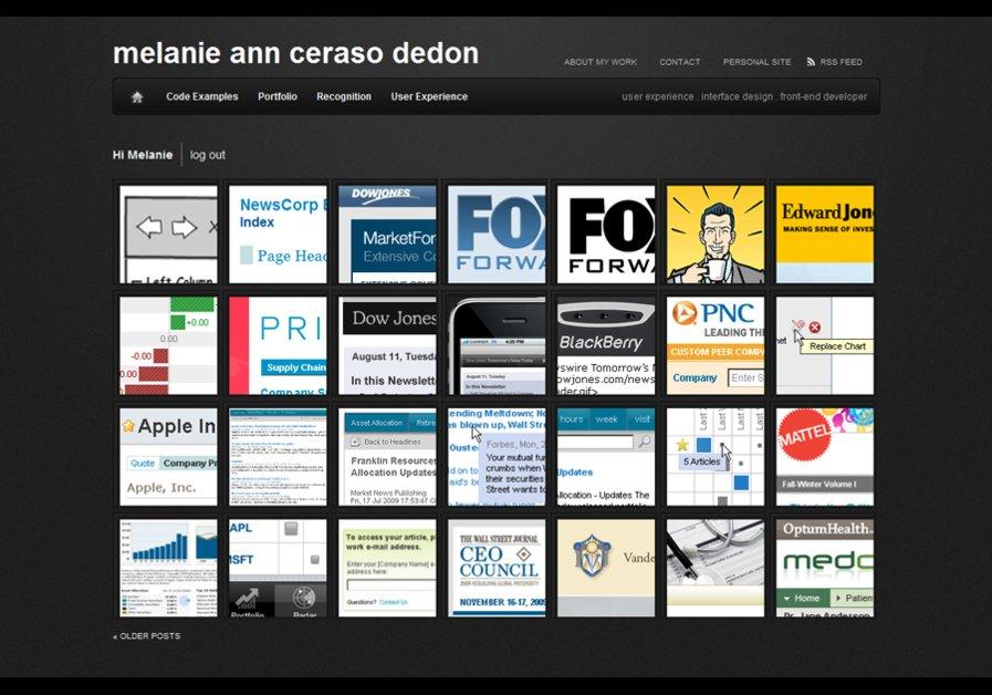 A great web design by Melanie A.C. deDon, Minneapolis, MN: