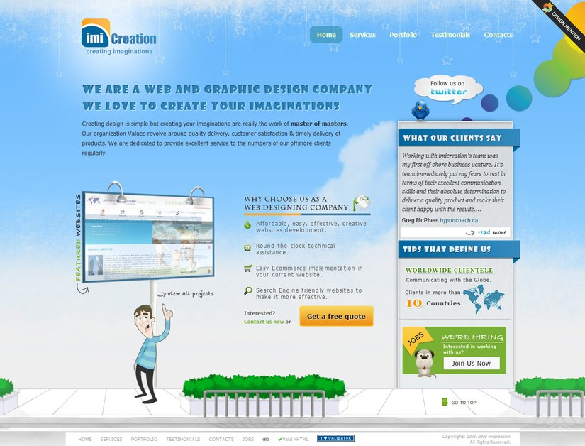 A great web design by imicreation, New Delhi, India: