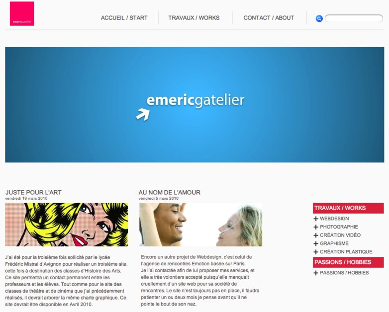 A great web design by EmericGatelier.fr, Avignon, France: