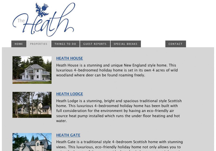 A great web design by Simply Excited, Inverness, United Kingdom: