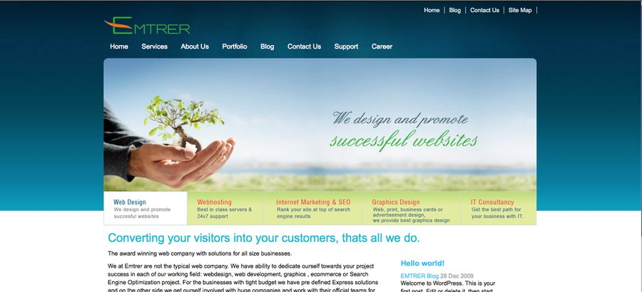 A great web design by EMTRER, Jaipur, India: