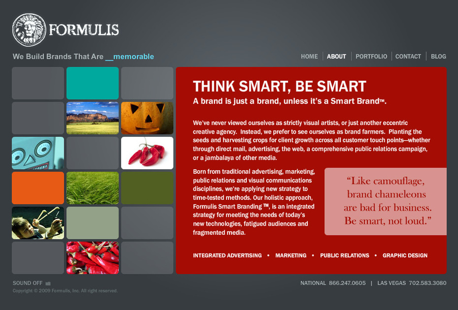 A great web design by Formulis, Las Vegas, NV: