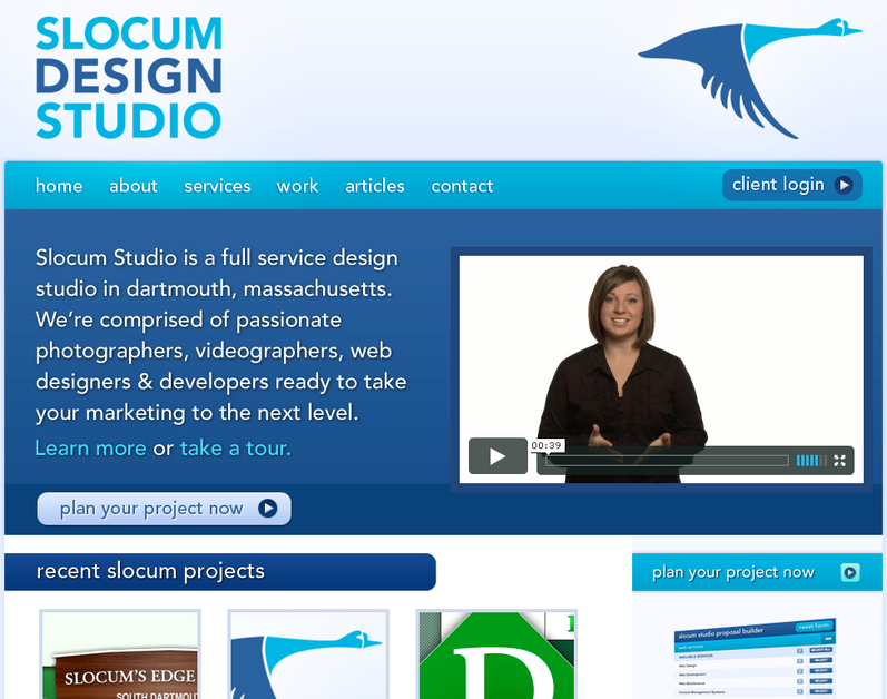 A great web design by Slocum Design Studio, Boston, MA: