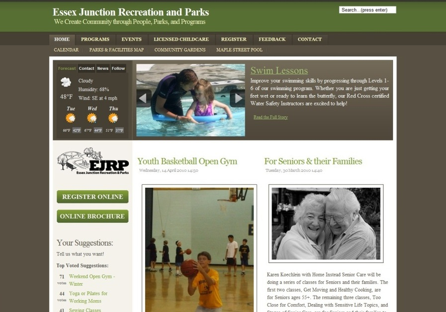 A great web design by RecWebsites.com, Burlington, VT: