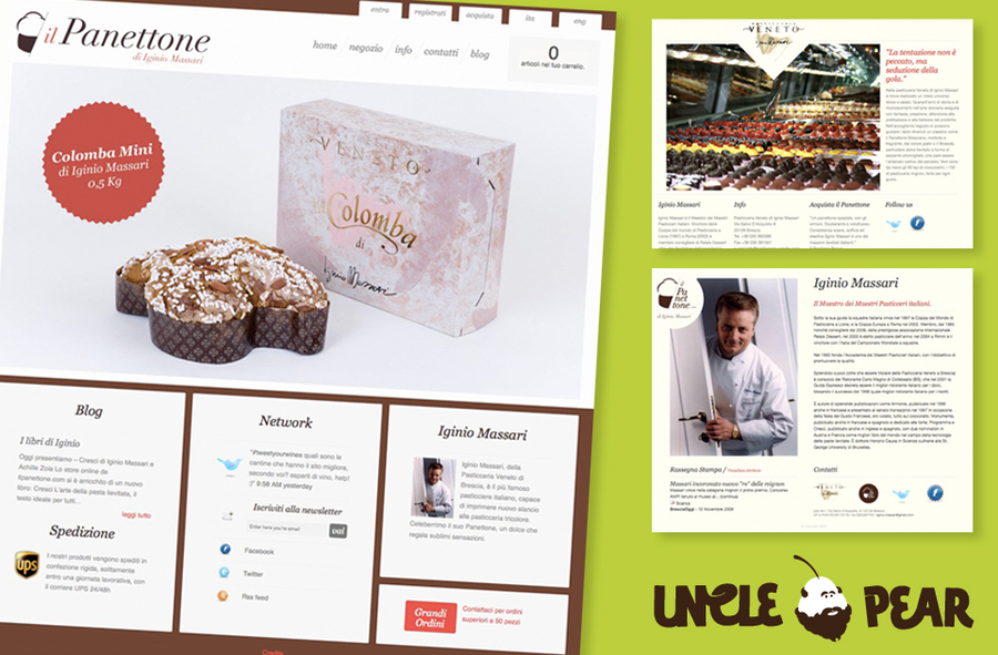 A great web design by Uncle Pear, Brescia, Italy: