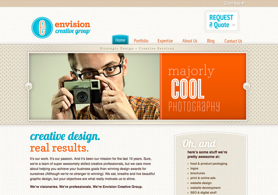 A great web design by Envision Creative Group, Austin, TX:
