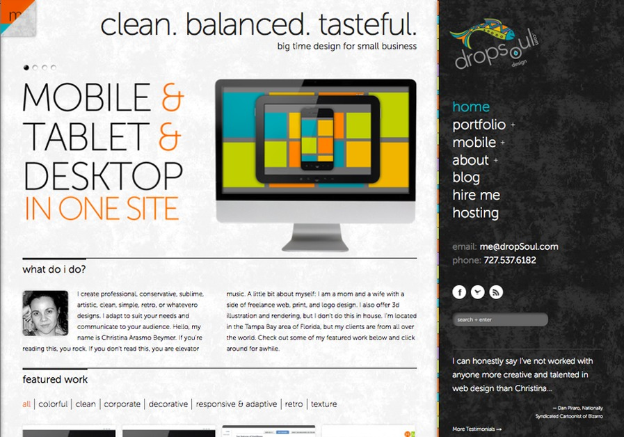 A great web design by Christina Beymer Tampa Web Design, Tampa, FL: