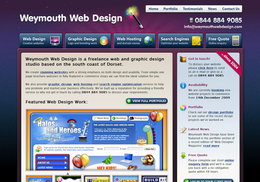 A great web design by Weymouth Web Design, Weymouth, United Kingdom: