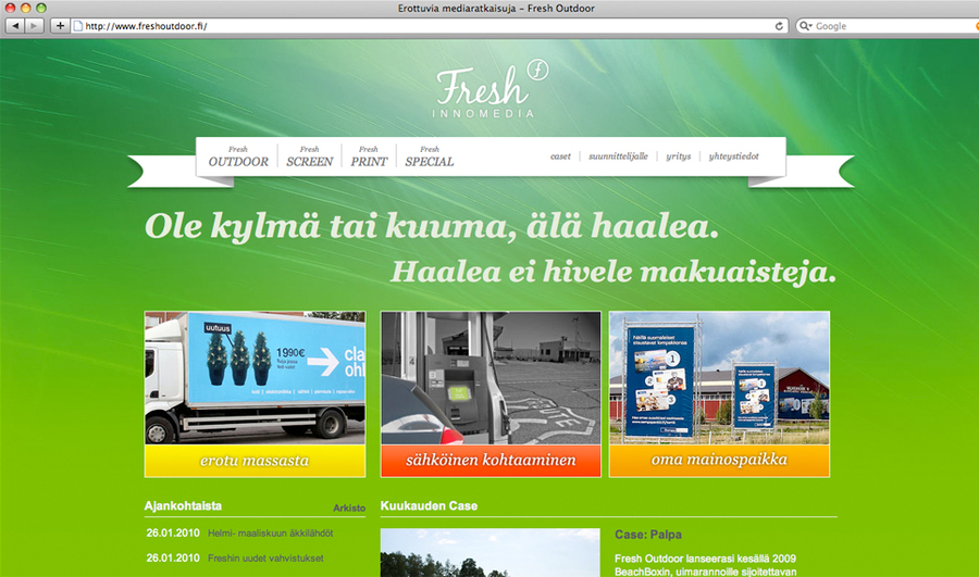 A great web design by Kuakeli, Herttoniemi, Finland: