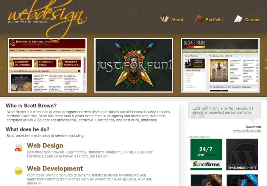 A great web design by Brown Freelance, Colorado Springs, CO: