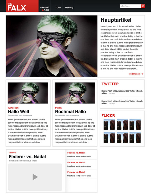A great web design by 91media, Bielefeld, Germany: