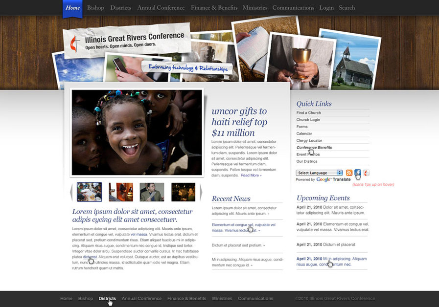 A great web design by Rain, Boston, MA:
