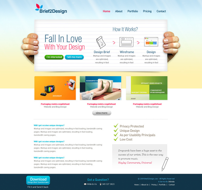 A great web design by Brief2Design, Ahmedabad, India: