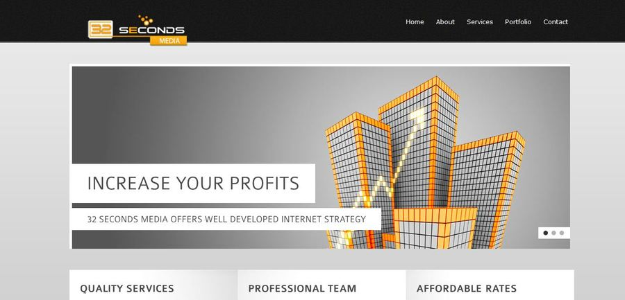 A great web design by 32 Seconds Media, Toronto, Canada: