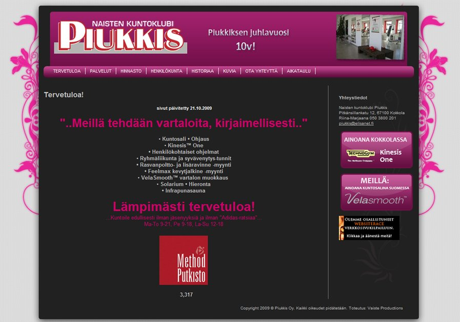 A great web design by Kristian Polso, Kokkola, Finland: