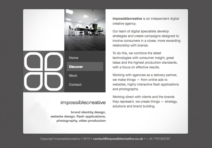 A great web design by impossiblecreative.co.uk, Leicester, United Kingdom: