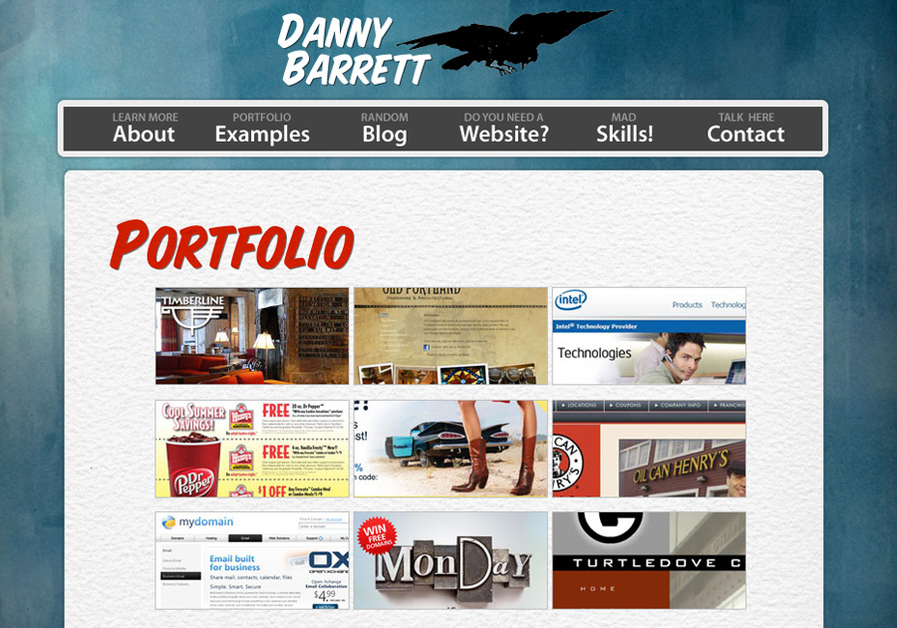 A great web design by Danny Barrett, Portland, OR: