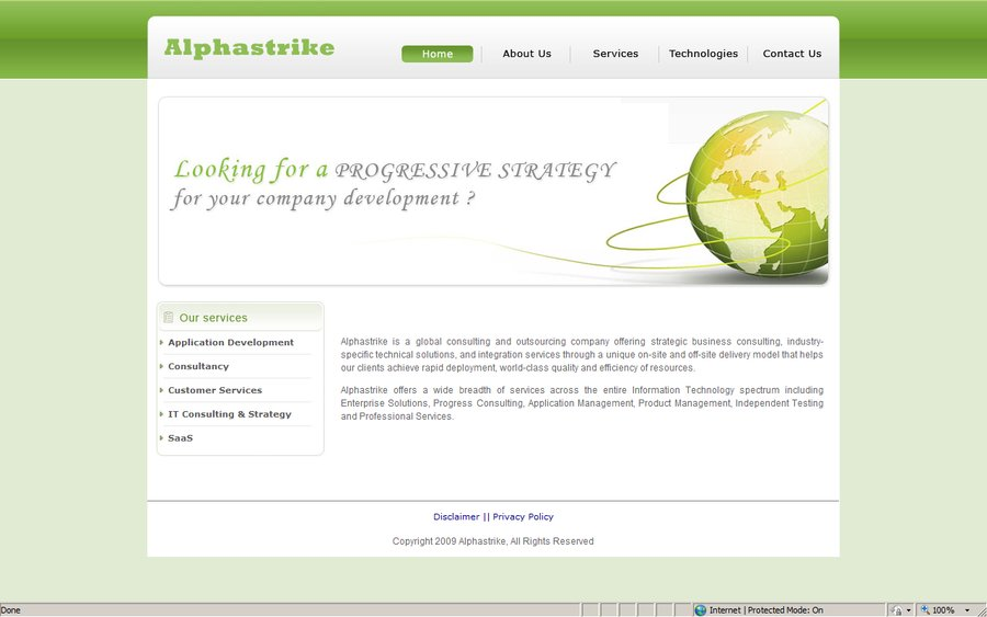 A great web design by Alphastrike Corp., New Delhi, India: