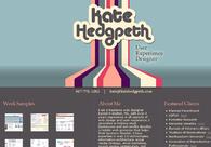 A great web design by Kate Hedgpeth, Boston, MA: