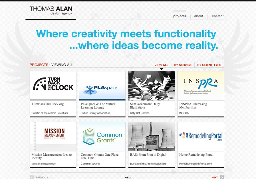 A great web design by THOMAS ALAN design agency, Chicago, IL: