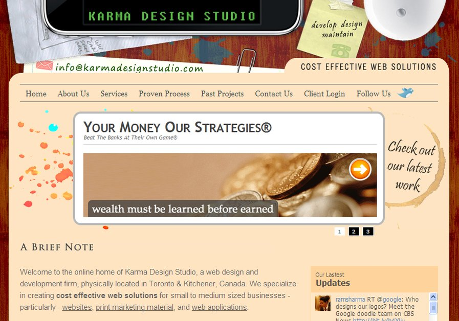 A great web design by Karma Design Studio, Toronto, Canada: