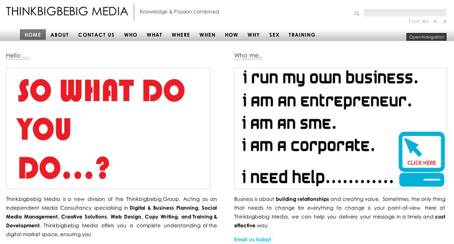 A great web design by Thinkbigbebig Media, London, United Kingdom: