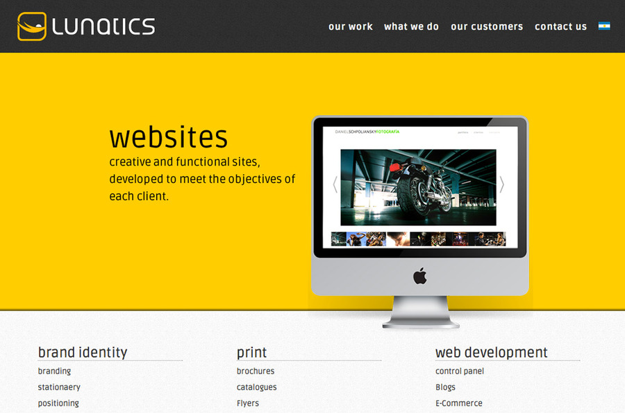 A great web design by Lunatics, Buenos Aires, Argentina: