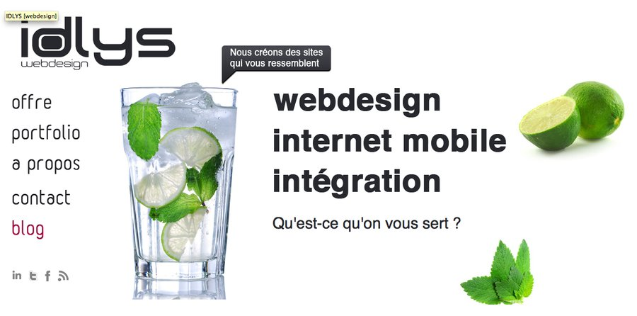 A great web design by IDLYS[webdesign], Paris, France: