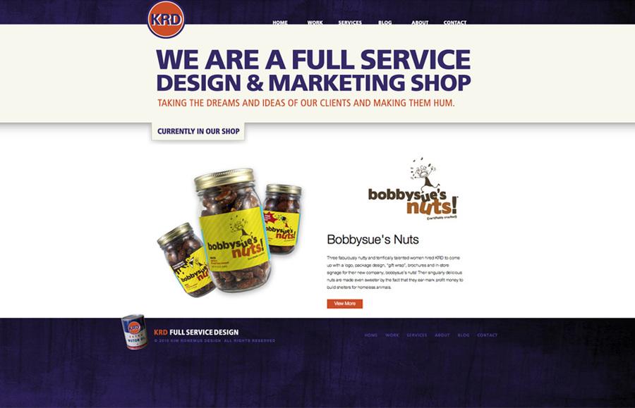 A great web design by Kim Ronemus Design, Westport, CT: