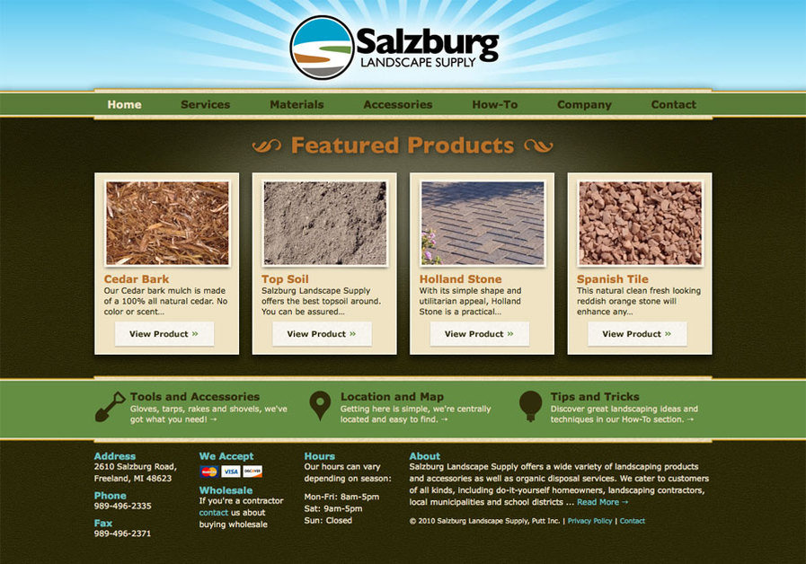 A great web design by ClearRiver Advertising and Marketing, Midland, MI: